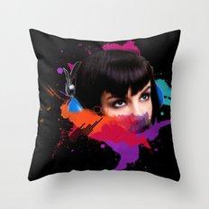 sexy stereo::famke Throw Pillow