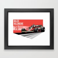Gilles Villeneuve - 1978… Framed Art Print