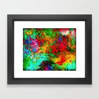 BUTTERFLY FEVER - Bold R… Framed Art Print