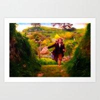 Bilbo's Adventure Begins - Painting Style Art Print