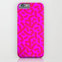 iPhone & iPod Case featuring Hot Pink Cheese Doodles /// www.pencilmeinstationery.com by Pencil Me In ™