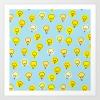 Lightbulb moment Art Print
