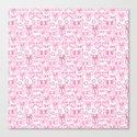 bows pink Canvas Print