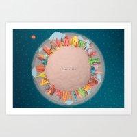 Planet Six Art Print