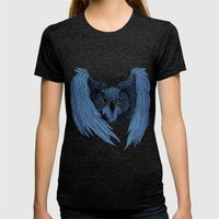 Night Owl Womens Fitted Tee Tri-Black SMALL