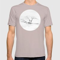 Scots Pine, Gray Mens Fitted Tee Cinder SMALL
