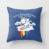 How Rainbows Are Made Throw Pillow