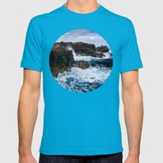 Ocean Power Mens Fitted Tee Teal SMALL
