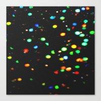 Sparkles: Neon Lights Canvas Print