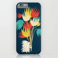 Hedgehog with flowers iPhone 6s Slim Case