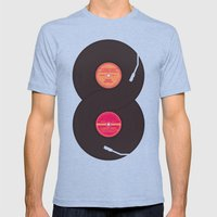 infinity vinyl records Mens Fitted Tee Tri-Blue SMALL