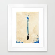 Doctor Who 10th Doctor's Sonic Screwdriver Rustic Framed Art Print