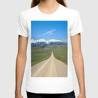 Old Country Road Womens Fitted Tee White SMALL