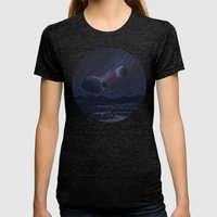 Spacescape Womens Fitted Tee Tri-Black SMALL