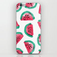 Painted Watermelon Pattern iPhone & iPod Skin