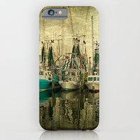 iPhone & iPod Case featuring Shrimp Boat Lineup by JMcCool
