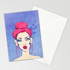 Selfie girl_3 Stationery Cards