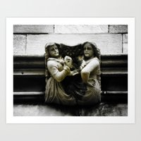 Sisters With a Cause Gargoyle, University of Chicago Art Print