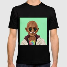 Hipstory -  Mahatma Gand… Mens Fitted Tee Black SMALL