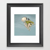 Up Here With You Framed Art Print