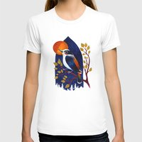 Window Bird Womens Fitted Tee White SMALL