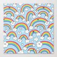 Rainbows Everywhere! Canvas Print