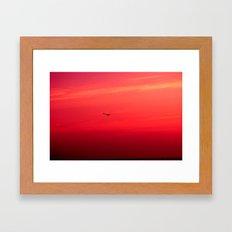 Crimson Sky Framed Art Print