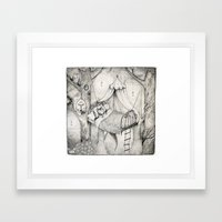 Bed In The Woods Framed Art Print