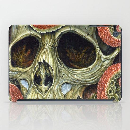 orange tentacles skull iPad Case