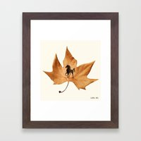 Horse On A Dried Leaf Framed Art Print