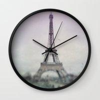 Eiffel Tower. Wall Clock