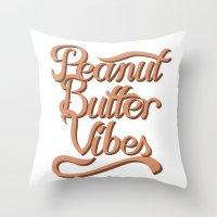 Peanut Butter Vibes Throw Pillow