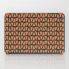 Desert Triangles - Geometric Orange and Blue Pattern iPad Case