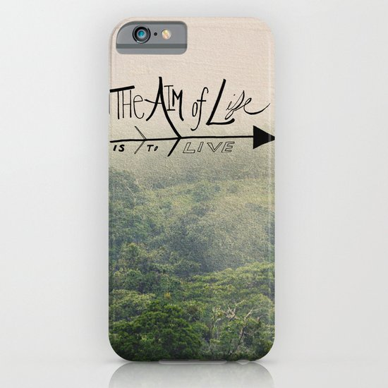 The Aim of Life iPhone & iPod Case