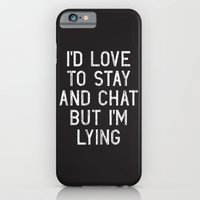 iPhone Cases featuring Chat by Vectored Life