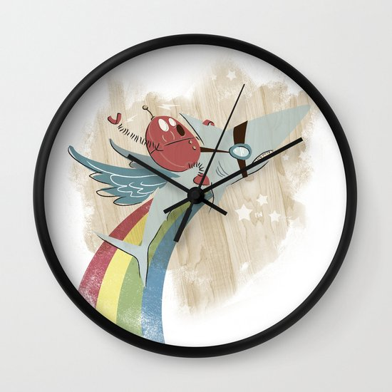 The Super Fire Awesome Rainbow Dream Adventure! Wall Clock