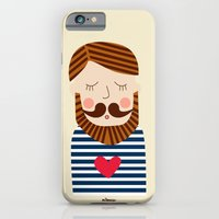 iPhone & iPod Case featuring Bearded Sailor Lover by Milanesa