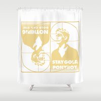 Stay (Nothing Gold Can Stay) Ponyboy Shower Curtain