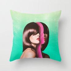 Split Hairs Throw Pillow