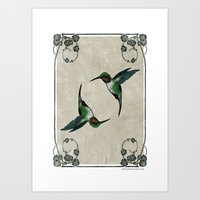 The Humming Birds Art Print