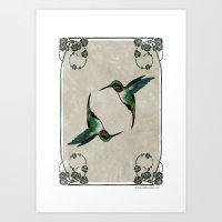 The Humming birds Art Print