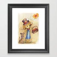 Flower Girl And Her Frie… Framed Art Print