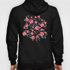 Roses on White - a watercolor floral pattern Hoody