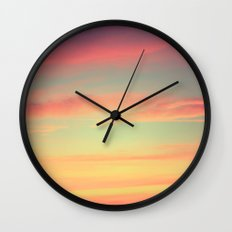 When Rainbows Go To Bed Wall Clock