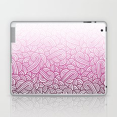 Gradient pink and white swirls doodles Laptop & iPad Skin
