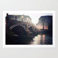 Evening Bridge Art Print