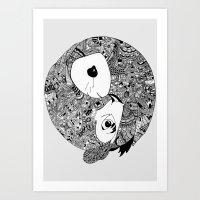 Merger Art Print