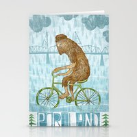 Dirty Wet Bigfoot Hipster Stationery Cards