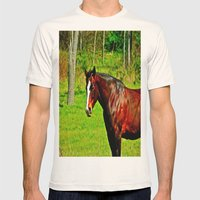Equine Beauty Mens Fitted Tee Natural SMALL