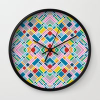 Map Outline 45 Repeat Wall Clock